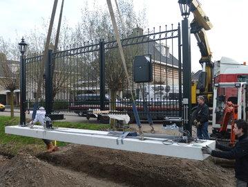 Prefab-poort Lavendel geplaatst in Barendrecht