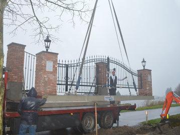 Prefab-poort geplaatst in Alphen a/d Rijn