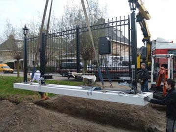 Prefab-poort geplaatst in Barendrecht