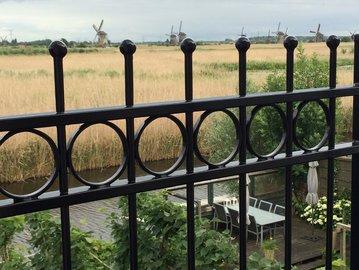 Hekwerk type Anjer geplaatst in Kinderdijk